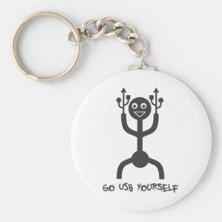 USB Man Key Chains