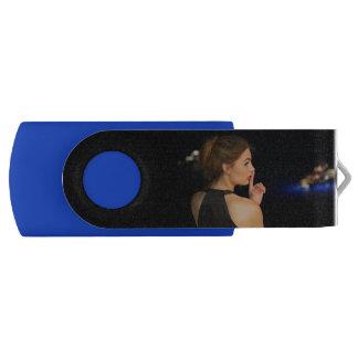 USB Silver, 8 GB, Black Blue Secret Girl Flash Drive