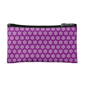 Usb snowflakes small tiles cosmetic bags