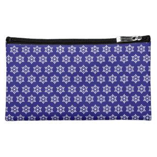 USB snowflakes small tiles Makeup Bags