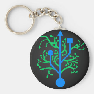 USB Tree Keychain