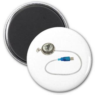 USBTimePiece040509 2 Inch Round Magnet