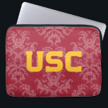 "USC Trojans | Damask Pattern Laptop Sleeve<br><div class=""desc"">Check out these official USC products. All of these products are customizable so you can add your class year,  name,  or sport. Personalize your USC merchandise on Zazzle.com!  You can find something here to show off your Trojan pride every day!</div>"