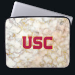 "USC Trojans | Rose Gold Marble Laptop Sleeve<br><div class=""desc"">Check out these official USC products. All of these products are customizable so you can add your class year,  name,  or sport. Personalize your USC merchandise on Zazzle.com!  You can find something here to show off your Trojan pride every day!</div>"