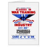 USC War Training Classes 1943 WPA Card