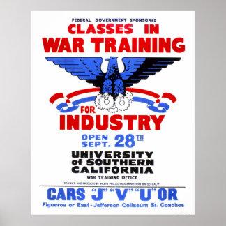 USC War Training Classes 1943 WPA Poster