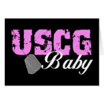 uscg99baby2blk greeting card
