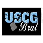 uscg99brat3blk greeting cards