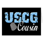 uscg99cousin3blk greeting card