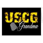 uscg99grandmablk greeting cards