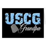 uscg99grandpa2blk greeting cards