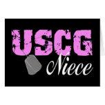 uscg99niece2blk greeting card