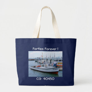 USCG 40 Foot Utility Boat Large # 40450 Blue Large Tote Bag