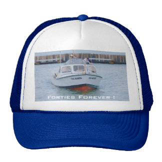 USCG 40 Foot Utility Boat Large # 40450 Front View Trucker Hat