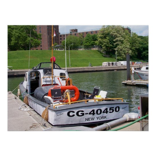 USCG 40 Foot Utility Boat Large # 40450 Poster