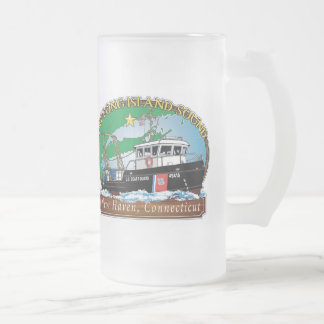 USCG Aids to Navigation Long Island Sound Frosted Beer Mug