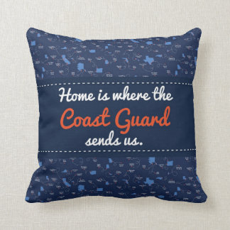 USCG Air Station locations Throw Pillow