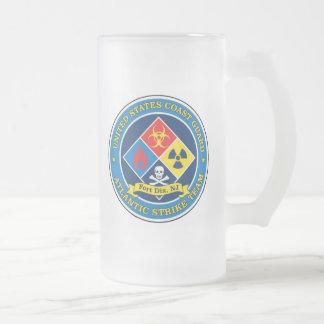 USCG Atlantic Strike Team Frosted Glass Beer Mug