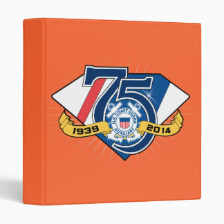 USCG Auxiliary 75th Anniversary 3 Ring Binders