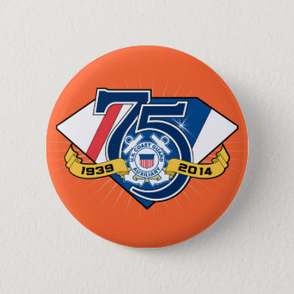 USCG Auxiliary 75th Anniversary Pinback Button