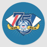 USCG Auxiliary 75th Anniversary Stickers
