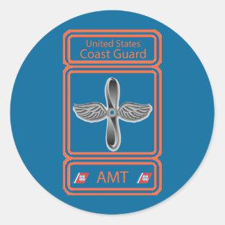USCG Aviation Maintenance Technician Classic Round Sticker