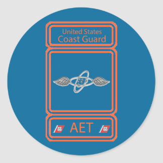 USCG Avionics Electrical Technician Classic Round Sticker