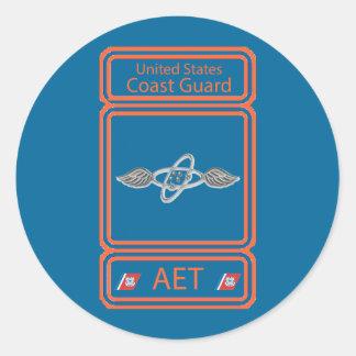 USCG Avionics Electrical Technician Classic Round Sticker