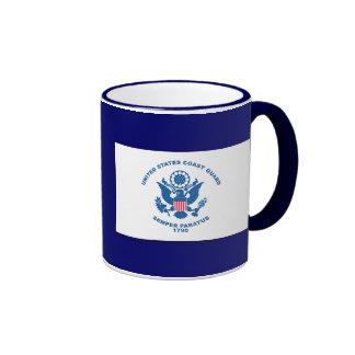 USCG - Bandera del guardacostas Taza De Café