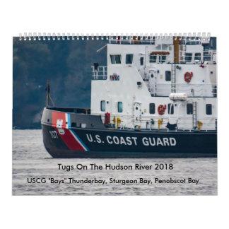 """USCG """"Bays"""" On The Hudson River 2018 Calendar"""