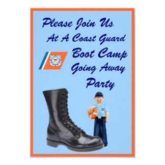 "USCG Boot Camp Going Away Party Invitation 3.5"" X 5"" Invitation Card"