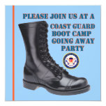 """USCG Boot Camp Going Away Party Invitation 5.25"""" Square Invitation Card"""