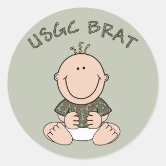 USCG Brat (Boy) Classic Round Sticker