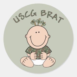 USCG Brat (Girl) Classic Round Sticker