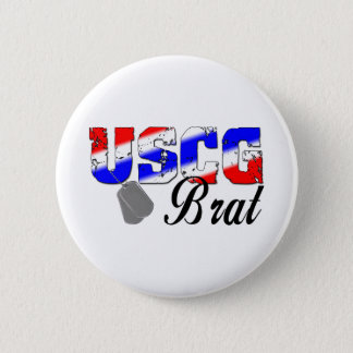 USCG Brat - Red, White and Blue Pinback Button