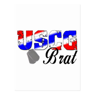 USCG Brat - Red, White and Blue Postcard