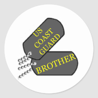 USCG Brother Classic Round Sticker