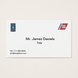 USCG Chief Petty Officer Logo Business Card