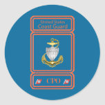 USCG Chief Petty Officer Logo Round Stickers