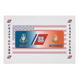 USCG Chief Petty Officer Retired Shield Poster