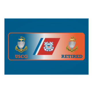 USCG Chief Petty Officer Retired Shield Posters
