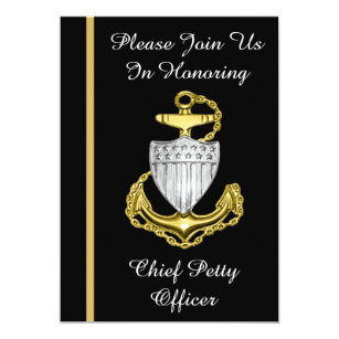 USCG Chief Petty Officer Retirement Invitation