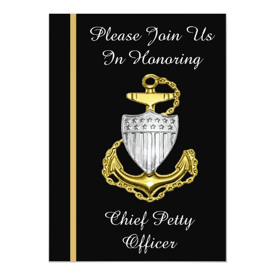 Uscg Chief Petty Officer Retirement Invitation  Zazzle
