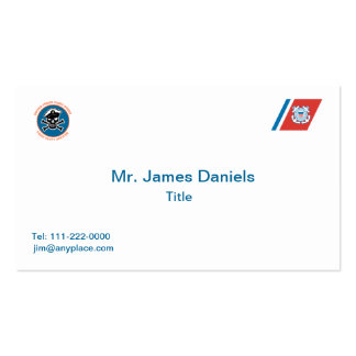 USCG Chief Petty Officer Skull Business Card