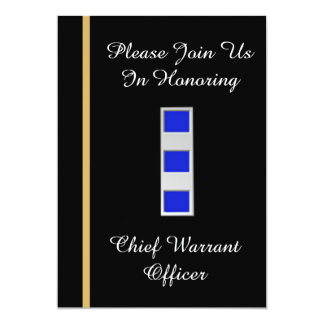 USCG Chief Warrant Officer 4 Retirement Invitation