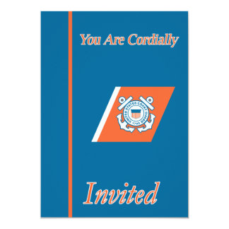 USCG Chief Warrant Officer W-4 Retirement 5x7 Paper Invitation Card