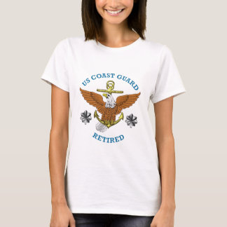 USCG Commander Retired Eagle Anchor Shield T-Shirt