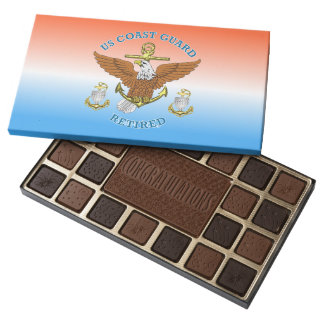 USCG CPO Retired Eagle Anchor Shield Assorted Chocolates