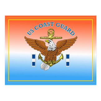USCG CWO3 Eagle Anchor Postcard
