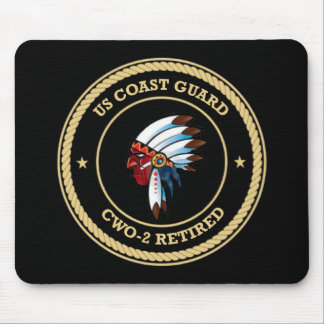 USCG  CWO-2 Retired Indian Chief Shield Mouse Pad